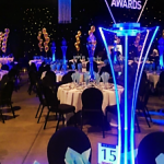 table centres light up at events